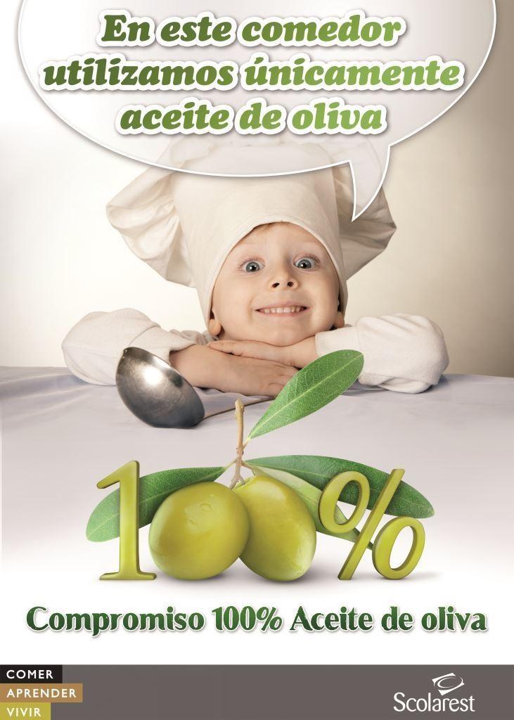 En este comedor utilizamos únicamente aceite de oliva