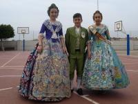 Bárbara, Hugo y Elena. Fallas 2014.