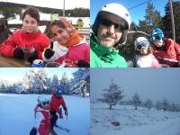 Hugo y Carla esquiando en Valdelinares, Teruel