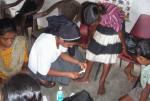 Dispensario médico en Singhpur (India)