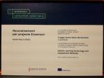 Reconocimiento para proyecto Erasmus+